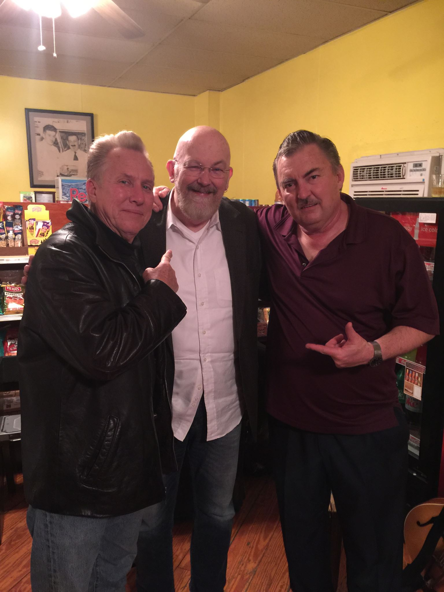 Anson Funderburgh, Dave Orban, and Little Charlie Baty at St. George's Country Store in Delaware...