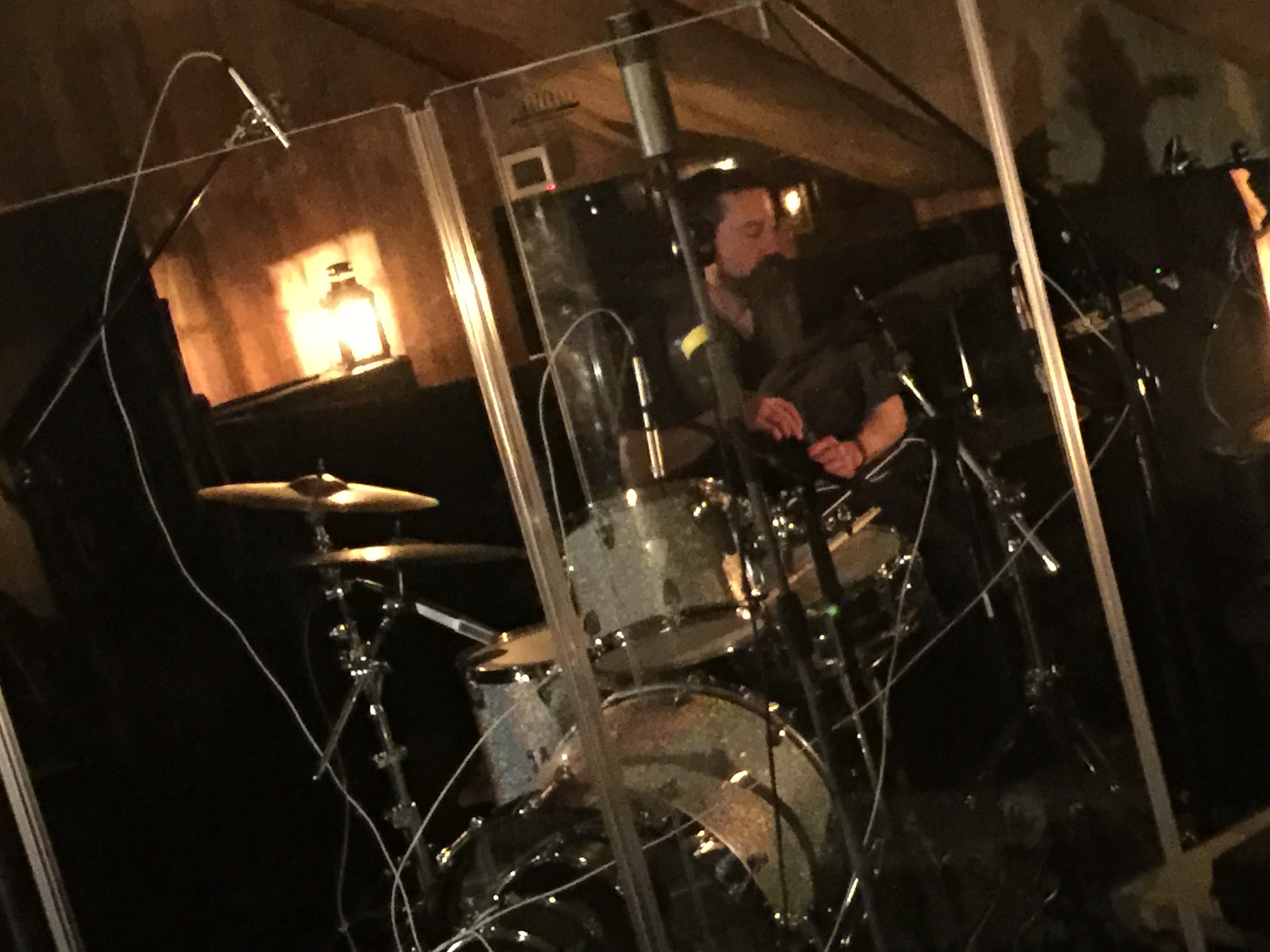 Mark Shewchuk on the drums
