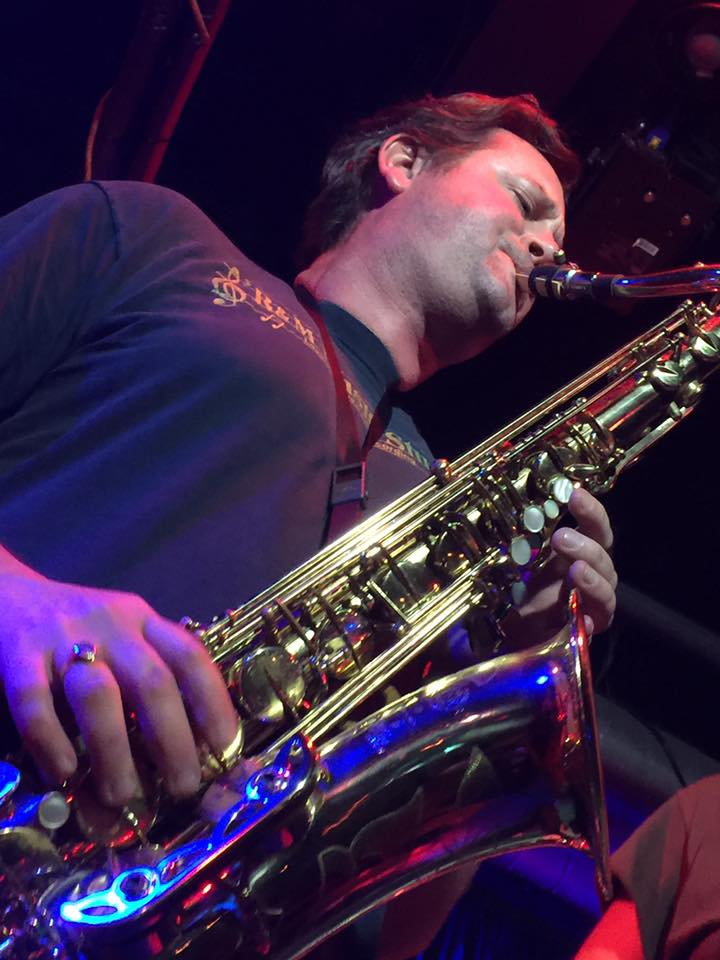 Mike Scott on sax